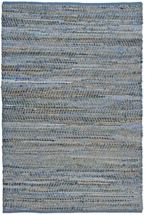 I love the texture and simplicity of this solid, recycled jean and jute woven rug. Earth First Jean Rug, Wayfair.com.