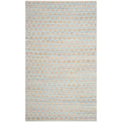 This jute rug looks pretty, but beachy and adds a soft aqua color to the mix. Safavieh Rug from Home Depot.