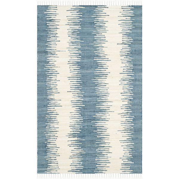 The stripe is graphic, but has an organic feel. Montauk Rug by Safavieh on Wayfair.