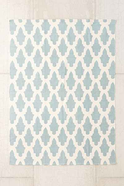 This might be my favorite. It's a printed cotton rug and I love the color and pattern, but I'm concerned it won't wear well. Flourish Rug by Urban Outiffters.