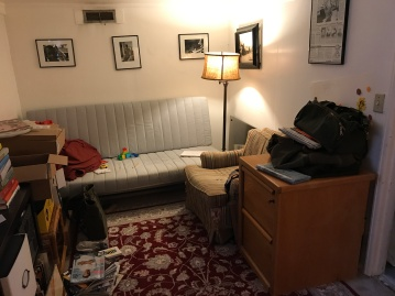 BEFORE: Using this room as a guest space was a total afterthought, and having the futon did not make the best use of this area.