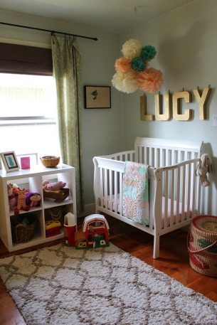 Lucy's nursery used to have mainly pastels.